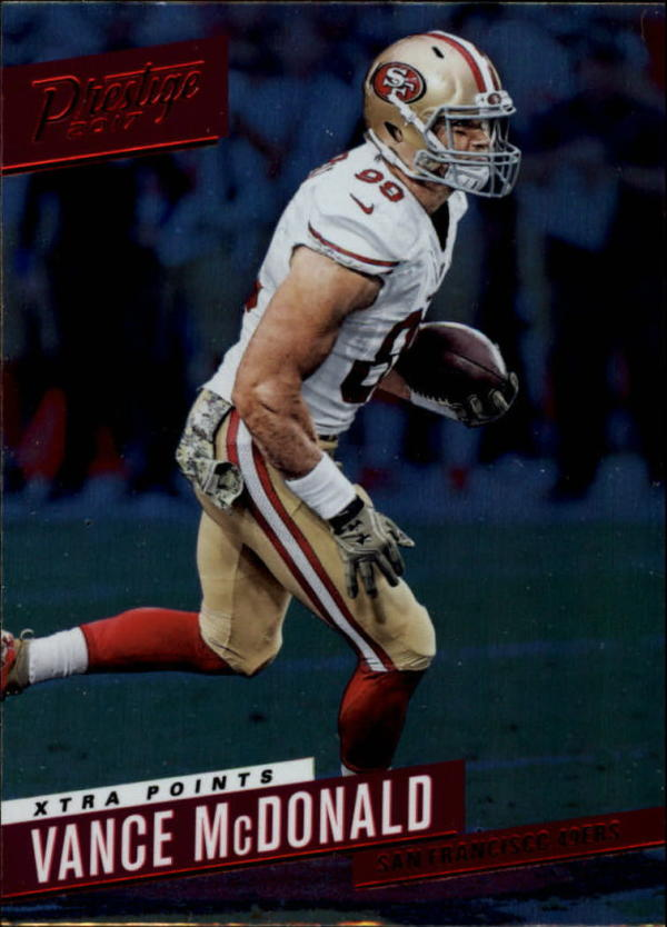 2017 Prestige Xtra Points Red #144 Vance McDonald  49ers Football