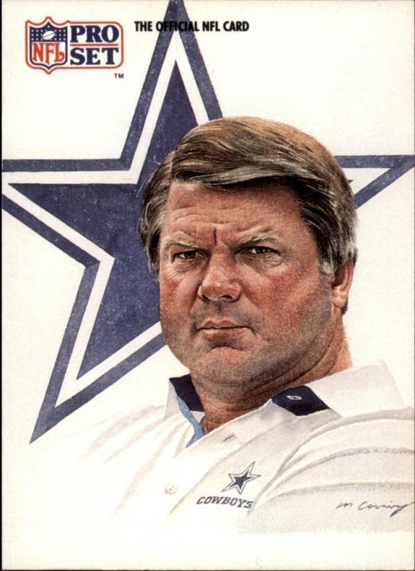1991 Pro Set #405 Jimmy Johnson CO  Cowboys Football