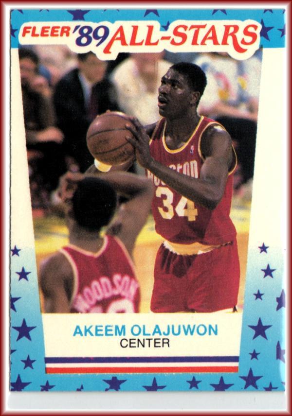 1989-90 Fleer Stickers #2 Akeem Olajuwon  Rockets Basketball