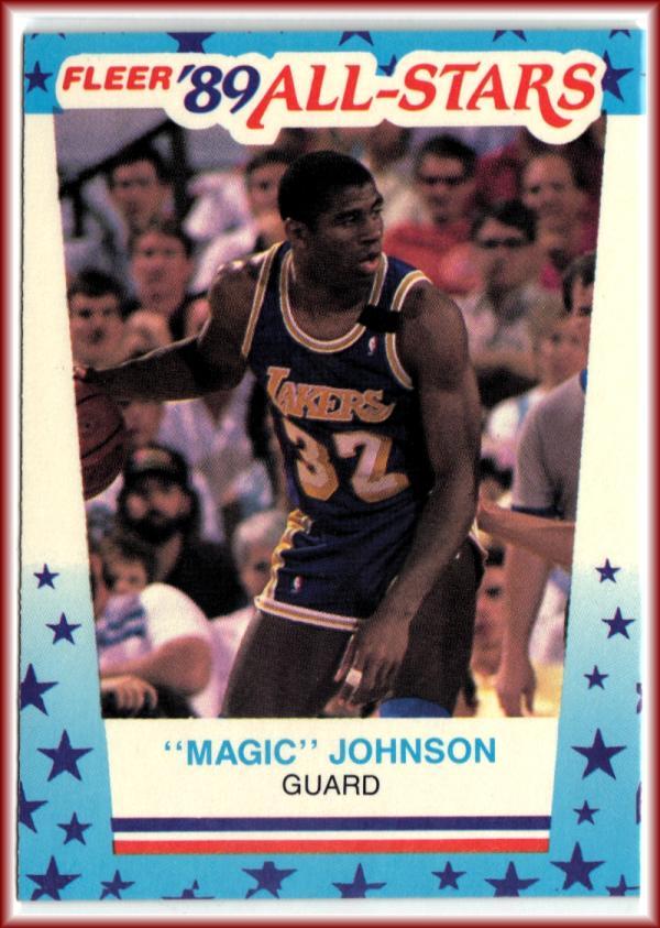 1989-90 Fleer Stickers #5 Magic Johnson  Lakers Basketball