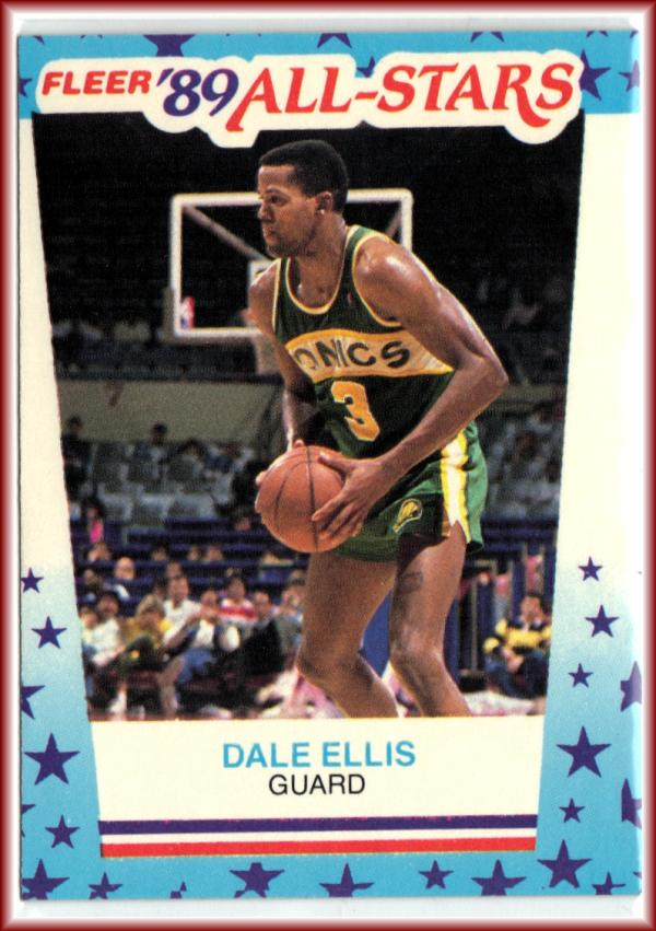 1989-90 Fleer Stickers #8 Dale Ellis  Basketball