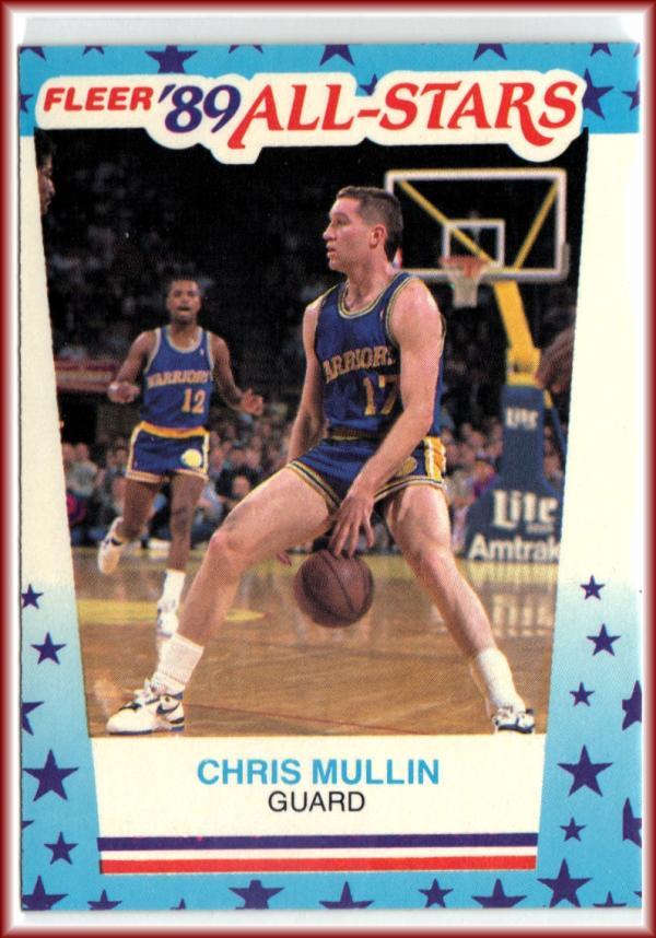 1989-90 Fleer Stickers #9 Chris Mullin  Warriors Basketball