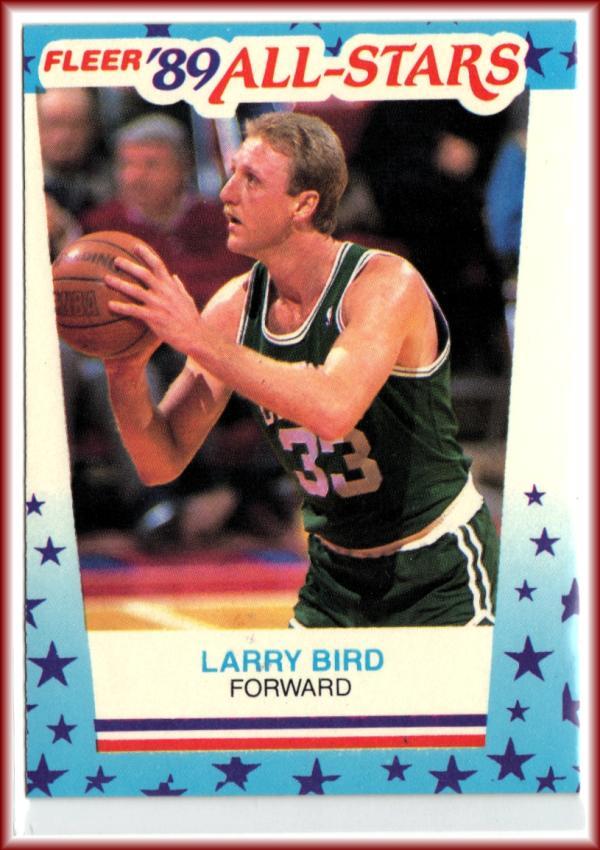 1989-90 Fleer Stickers #10 Larry Bird  Celtics Basketball