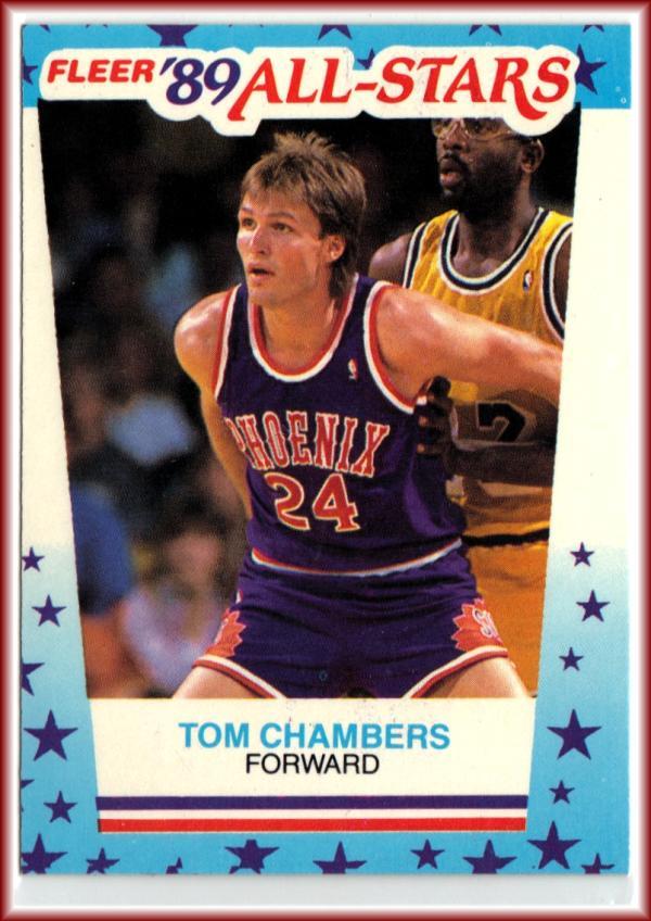 1989-90 Fleer Stickers #11 Tom Chambers  Suns Basketball