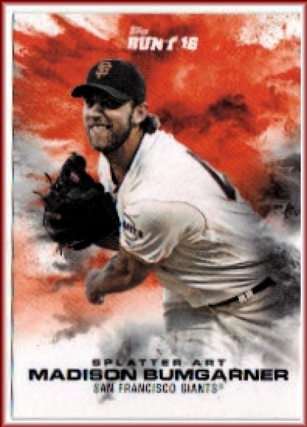 2016 Bunt Splatter Art #4 Madison Bumgarner Online Exclusive  /457 Giants Baseball