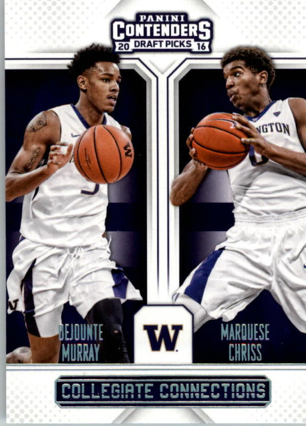 2016-17 Contenders Draft Picks Collegiate Connections #2 Dejounte Murray/Marquese Chriss  Basketball