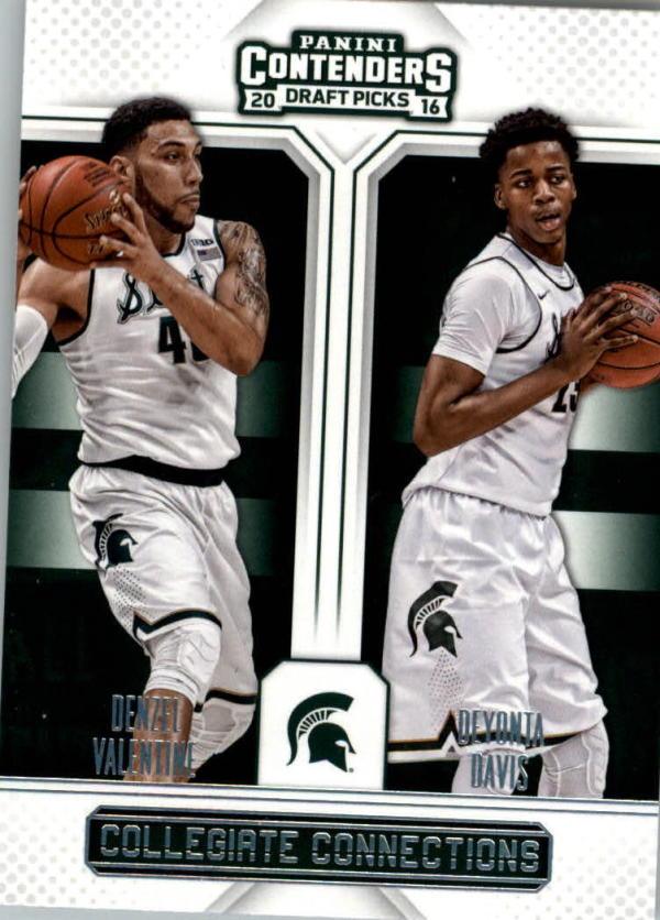 2016-17 Contenders Draft Picks Collegiate Connections #3 Denzel Valentine/Deyonta Davis  Basketball