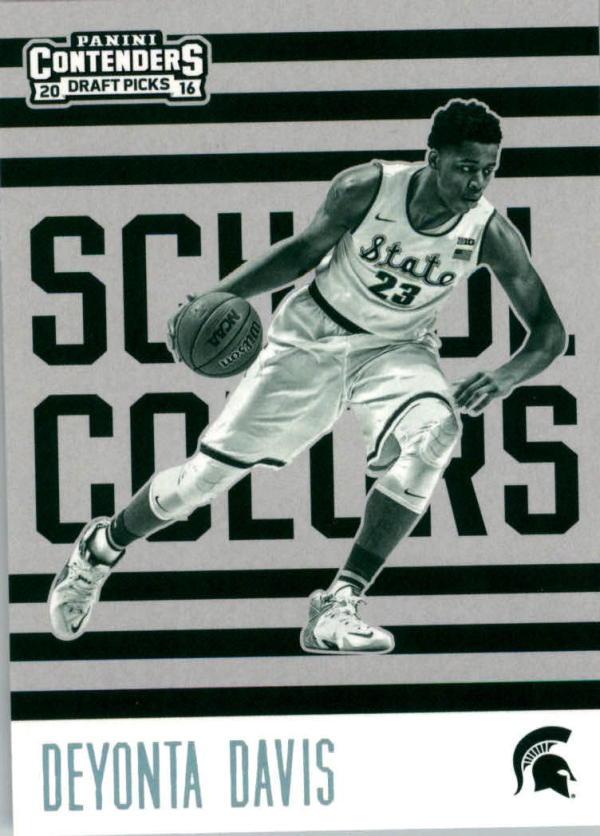 2016-17 Contenders Draft Picks School Colors #11 Deyonta Davis  Basketball