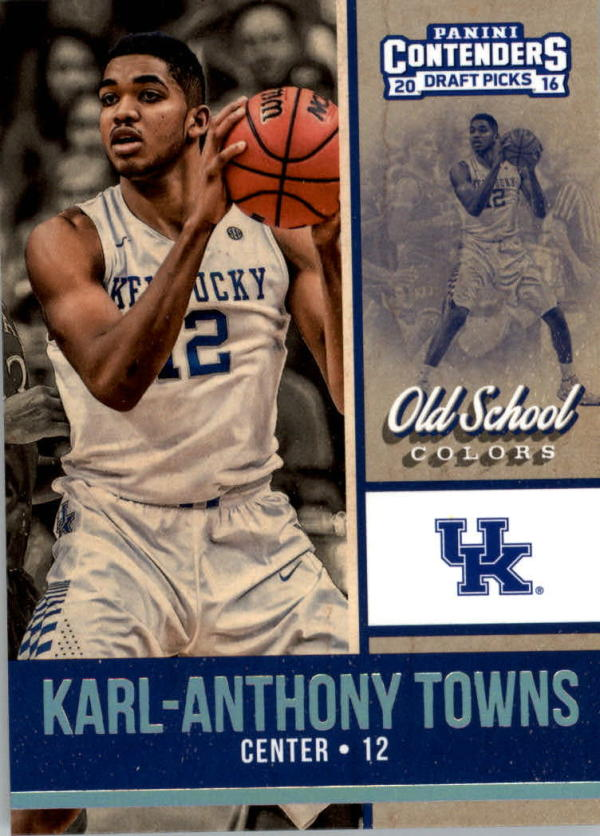 2016-17 Contenders Draft Picks Old School Colors #11 Karl-Anthony Towns  Basketball