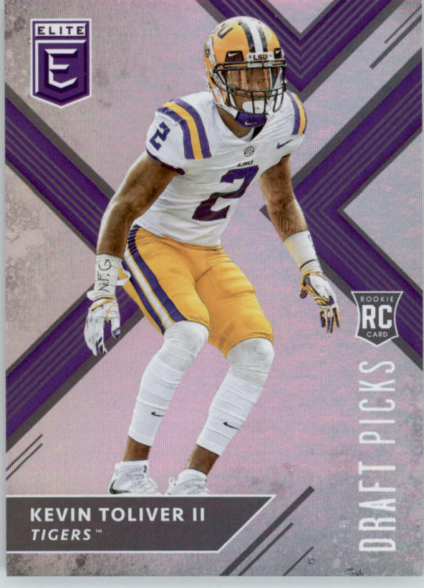 2018 Panini Elite Draft Picks #148A Kevin Toliver II (looking straight) RC