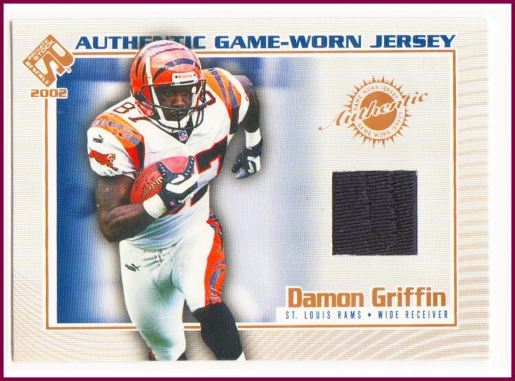 2002 Pacific Private Stock Reserve Game Worn Jerseys #101 Damon Griffin NM-MT GU