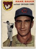 1954 Topps #4 Hank Sauer Condition Poor