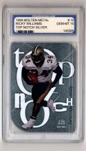 1999 SkyBox Molten Metal Top Notch Silver #TN15 Ricky Williams Graded PGS 10 Gem Mint
