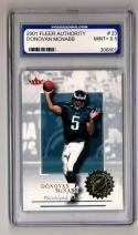 2001 Fleer Authority #23 Donovan McNabb Graded PGS 9.5 Mint+