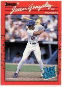 1990 Donruss  #33A Juan Gonzalez Reverse Negative RC  Error
