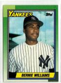 1990 Topps  #701 Bernie Williams RC  55/45 centering Top Right Border Chipping