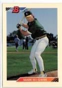 1992 Bowman  #384 Mark McGwire  55/45 centering
