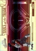 2005  Absolute Memorabilia Tools of the Trade Reverse Spectrum Red #163 Rafael Furcal #'d 18/50