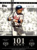 2007 Topps Moments and Milestones #24-101 Chipper jones/Run 101 #'d/150