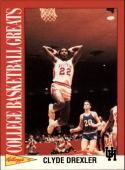 1992 Kellogg's Raisin Bran College Basketball Greats #2 Clyde Drexler