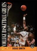 1992 Kellogg's Raisin Bran College Basketball Greats #9 Doug Smith