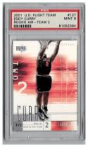 2001-02 UPPER DECK FLIGHT TEAM ROOKIE AIR TEAM 2 #127 EDDY CURRY RC PSA 9