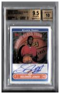 2006-07 TOPPS ROOKIE PHOTO SHOOT AUTOGRAPHS #SJ SOLOMON JONES BGS 9.5 Auto 10