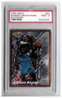 1996-97 FINEST #54 SHAREEF ABDUR-RAHIM B RC Graded PSA 9 Mint w/coating
