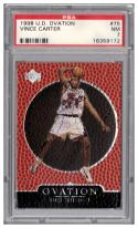 1998-99 Upper Deck Ovation #75 Vince Carter RC Graded PSA 7 NM