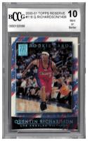 2000-01 TOPPS RESERVE #116 QUENTIN RICHARDSON RC Graded BCCG 10 Mint or Better #'d/1499