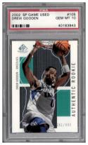 2002-03 SP GAME USED #105 DREW GOODEN RC PSA 10 #'d to 900
