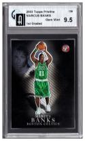 2003-04 TOPPS PRISTINE #139 MARCUS BANKS RC /499 GAI 9.5 (GLOBAL) 1st Graded