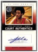 2004-05 Fleer E-XL Court Authentics Signatures #JC Josh Childress NM-MT Autograph #'d/200