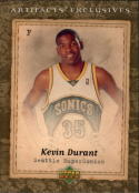 2007-08 Upper Deck Artifacts #219 Kevin Durant Uniform EX