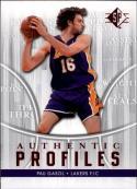 2008-09 Upper Deck SP Authentic Profiles #AP25 Pau Gasol