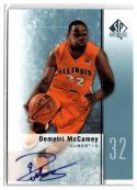 2011-12 SP Authentic Autographs #21 Demetri McCamey AU