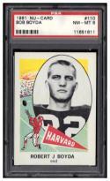 1961 Nu-Cards #110 Bob Boyda PSA 8