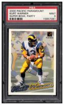 2000 Pacific Paramount Super Bowl Party  #NNO Kurt Warner PSA 9  Mint