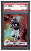 2001 Topps Finest #114 Rudi Johnson PSA 10 RC-Rookie #'d/1000