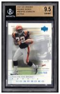 2001  UD Graded Rookie Series #69 Rudi Johnson Beckett 9.5 #'d /900