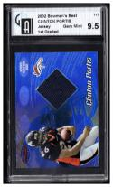 2002 Bowman's Best   #117 Clinton Portis     RC Game Used Graded GAI 9.5 Gem Mint