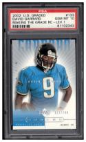 2002 UD Graded #133 David Garrard P PSA 10  Making the Grade #'d/700