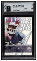 2003 Upper Deck SP Signature #112 Willis McGahee Graded GAI 9 1st Graded RC-Rookie #'d/750