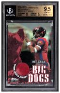 2004 Topps Draft Picks and Prospects Big Dog Relics #BDMS Matt Schaub C BGS 9.5 Beckett POP 3