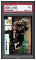 2007 Leaf Rookies and Stars Black Holofoil #188 Pierre Thomas PSA 9 #'d 10/10