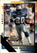 1992 Wild Card #108 Barry Sanders National Sports Collector's Convention 5 Stripe