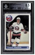 1984-85 Topps #154 Thomas Jonsson SP Beckett BGS 8.5 NY Islanders