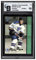 2003-04 Be a Player Memorabilia Emerald #174 Peter Sejna Graded GAI 10-Perfect  #'d 2/10
