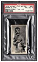 1938 F. C. Cartledge Famous Prize Fighters #21 Frank Slavin Graded PSA 8 NM-MT