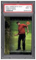 2001 Upper Deck Tiger's Tales #TT15 Tiger Woods PSA 9
